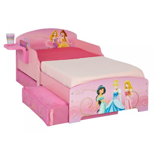 lit enfant avec rangement disney princesses. Black Bedroom Furniture Sets. Home Design Ideas