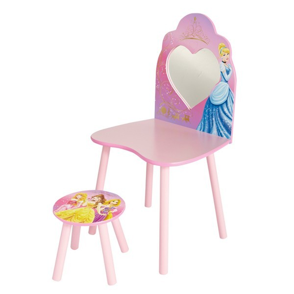 coiffeuse et tabouret disney princesses. Black Bedroom Furniture Sets. Home Design Ideas