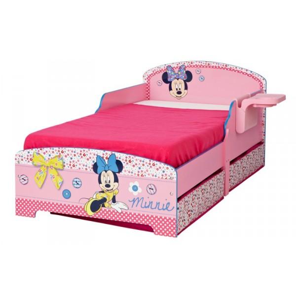 lit d 39 enfant avec rangement minnie. Black Bedroom Furniture Sets. Home Design Ideas