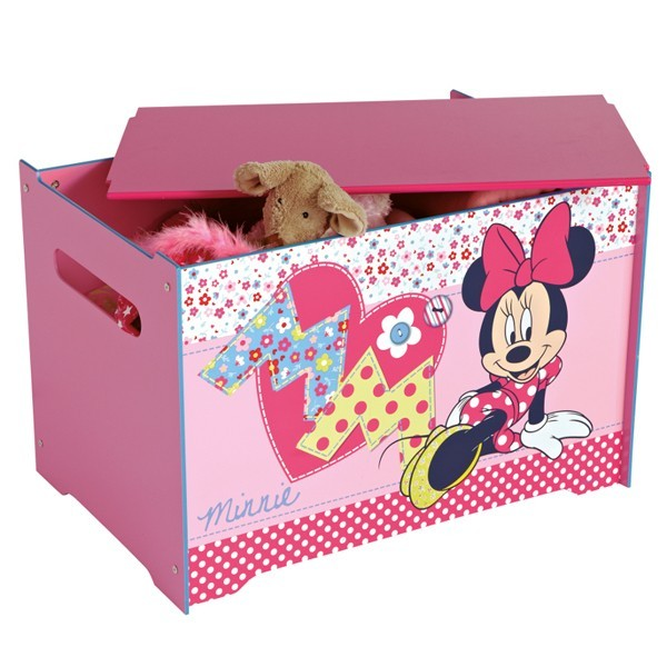 coffre jouets minnie. Black Bedroom Furniture Sets. Home Design Ideas
