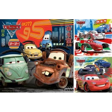 Puzzle Cars course autour du monde 3 x 49 pièces