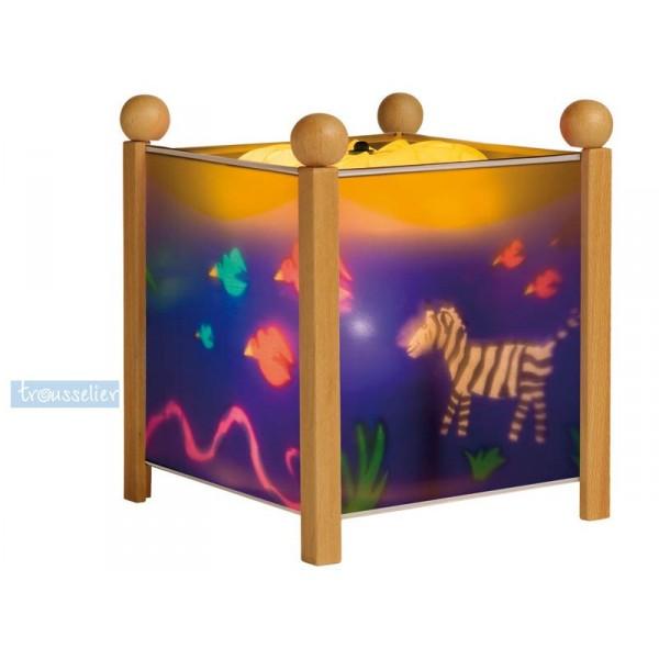 lanterne magique jungle naturel trousselier. Black Bedroom Furniture Sets. Home Design Ideas