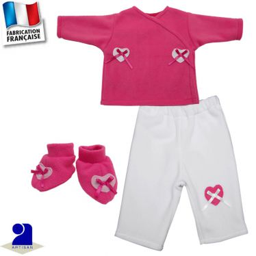 Pantalon, gilet, chaussons Made in France
