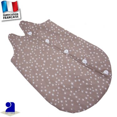 Gigoteuse spécial prématuré imprimé étoiles Made in France
