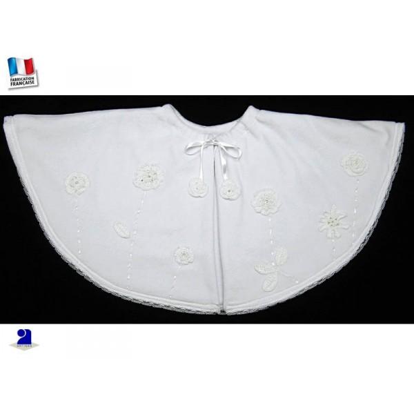 cape blanche courte bapt me velours. Black Bedroom Furniture Sets. Home Design Ideas