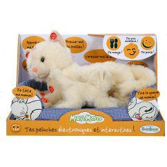 Peluche Interactive chat blanc et son bébé Miamoo