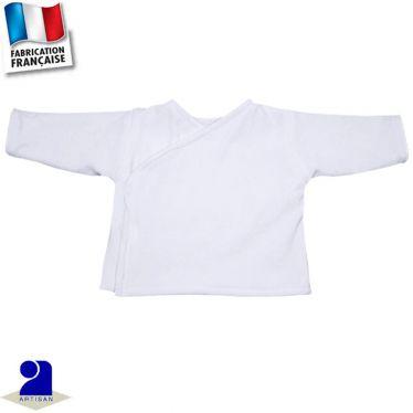 Gilet-brassière forme croisée 0 mois-6 mois Made in France