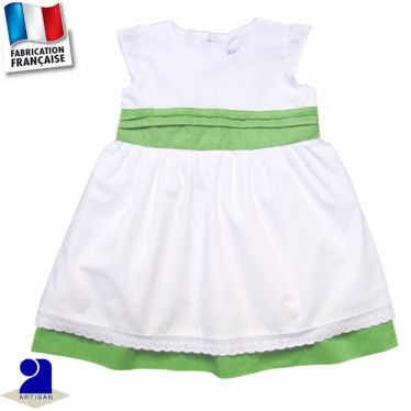 Robe deux jupons 0 mois-10 ans Made in France