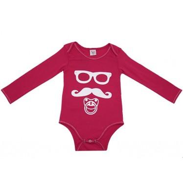 Body bébé Moustache rose 18 mois