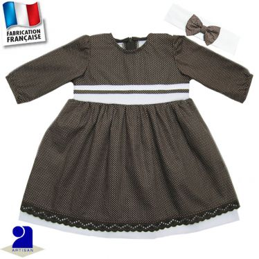 Robe deux jupons+bandeau Made in France