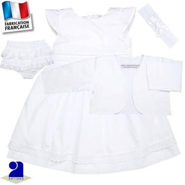 Robe, bolero, bloomer, bandeau 0 mois-6 ans Made in France