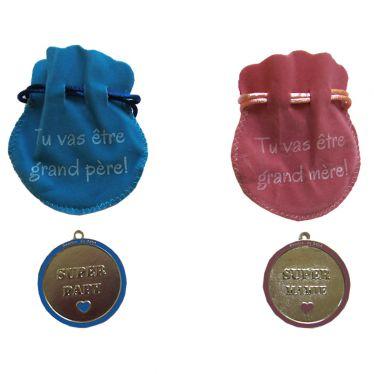 Médailles super Papy super Mamy