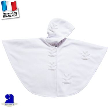 Cape avec capuche Oursons 0 mois au 5 ans Made in France
