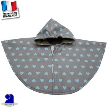 Cape imperméable imprimé Coeurs  Made in France
