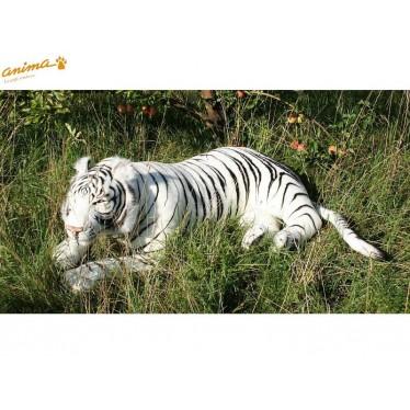 Peluche Tigre blanc couché 150 cm L