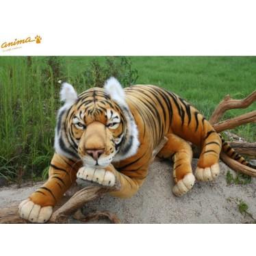 Peluche Tigre brun couché géant 150 cm L