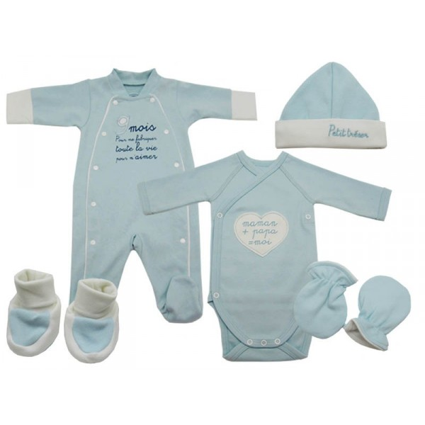 vetement bebe winnie vetement bebe trousseau naissance garco bleu bio. Black Bedroom Furniture Sets. Home Design Ideas