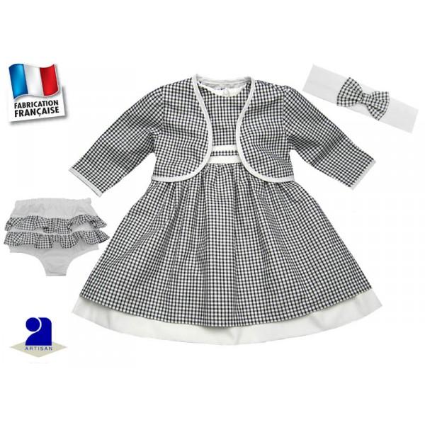 robe 18 mois bol ro bloomer bandeau vichy noir et blanc. Black Bedroom Furniture Sets. Home Design Ideas