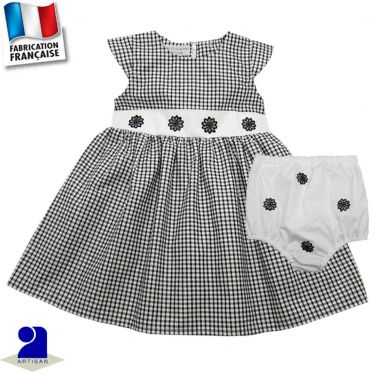 Robe et bloomer vichy Made in France