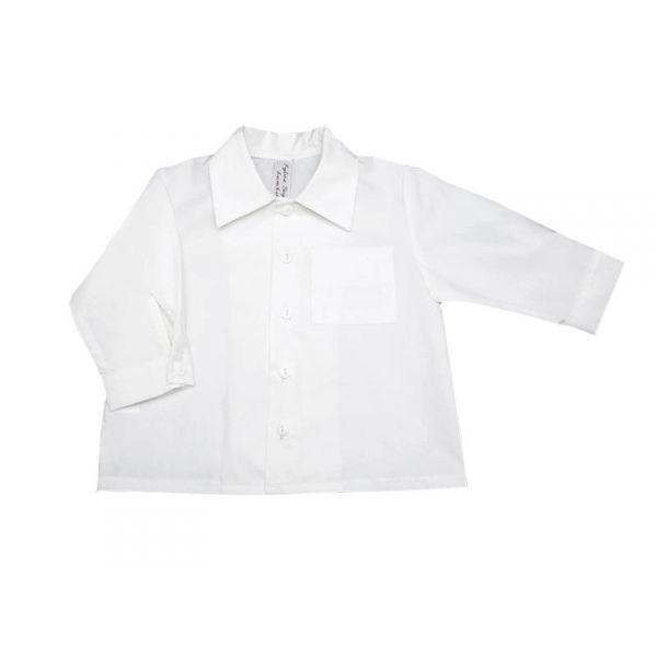 v tement enfant chemise blanche gar on coton 2 ans au 4 ans. Black Bedroom Furniture Sets. Home Design Ideas