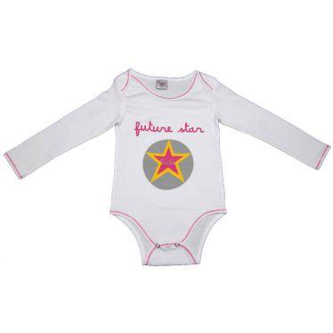 Body bébé Futur star blanc, 18 mois