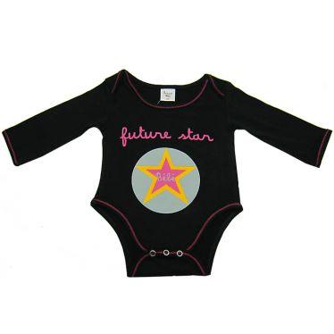 Body bébé Futur star noir, 12 mois