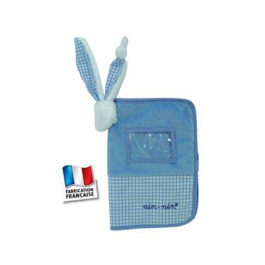 Protège carnet de santé Nin-Nin bleu