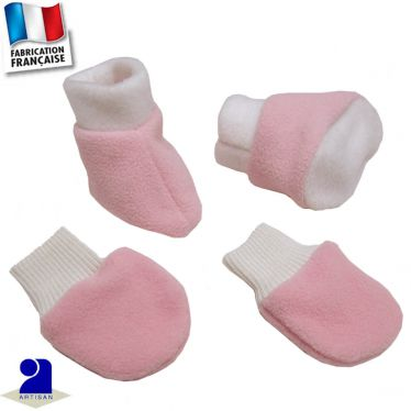 Chaussons et moufles 0 mois-12 mois Made in France