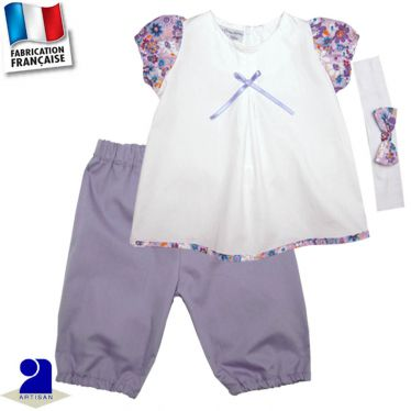 Pantacourt+tunique+bandeau Made in France