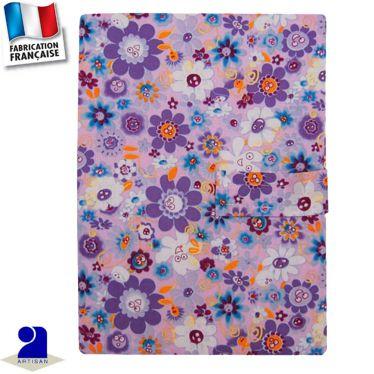 Protège carnet de santé imprimé fleurs Made in France