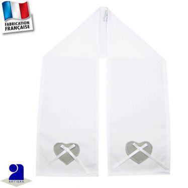 Etole-écharpe cérémonie coeur Made in France