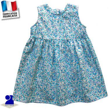 Robe sans manches imprimé fleuri Made in France