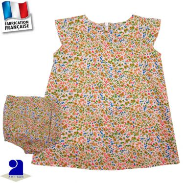 Robe trapèze et bloomer Made in France