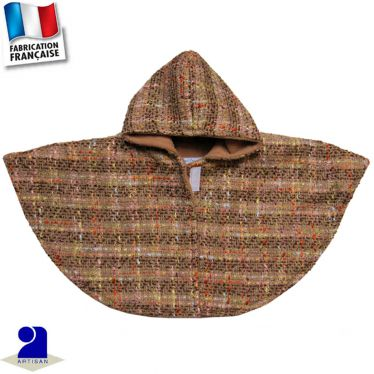 Poncho-Cape lainage Made in France