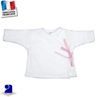 Gilet brassière peluche 0 mois-24 mois Made in France