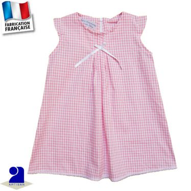 Robe trapèze et plis piqués Made in France