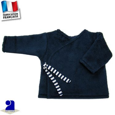 Gilet forme brassière touché peluche Made in France