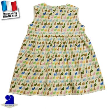 Robe sans manches imprimé lapins Made in France