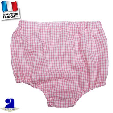 Bloomer imprimé vichy Made in France