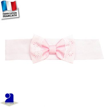 Bandeau cheveux noeud 0 mois-10 ans Made in France