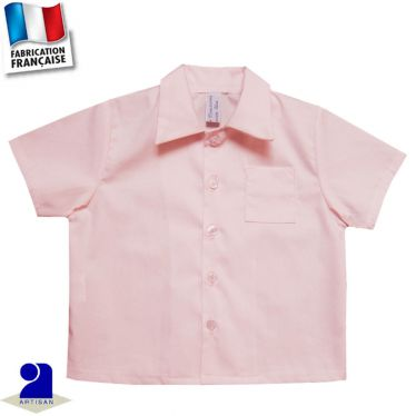 Chemise manches courtes 0 mois-10 ans Made in France