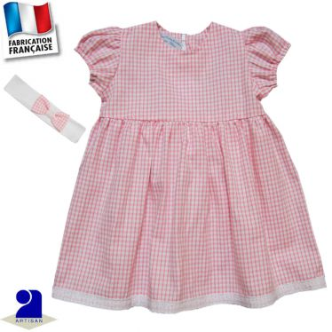 Robe manches courtes + bandeau Made in France