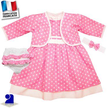 Robe+boléro+bloomer+bandeau imprimé Made In France