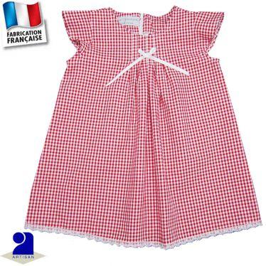 Robe imprimé vichy Made in France