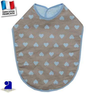 Bavoir imperméable imprimé Coeurs Made In France