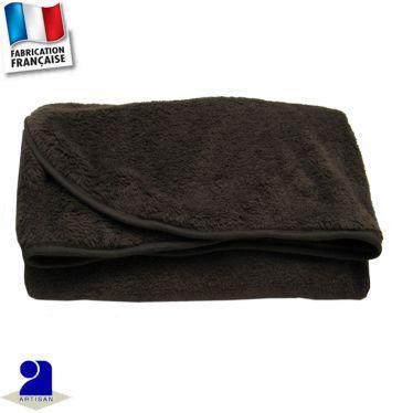 Plaid-couverture uni touché peluche 100 x 100 cm Made in France