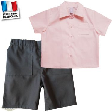 Bermuda + chemie 1 mois-10 ans Made in France