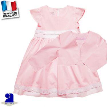 Ensemble 2 pièces robe et boléro, Made in France