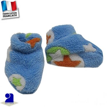 Chaussons chaussettes peluche Made in France