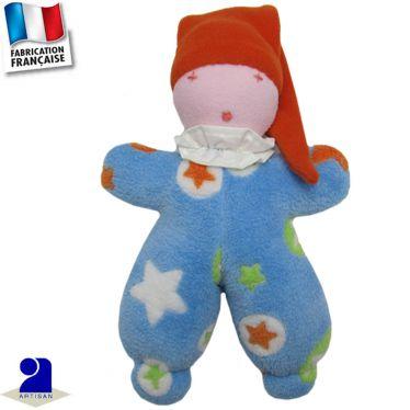 Doudou imprimé étoiles Made in France